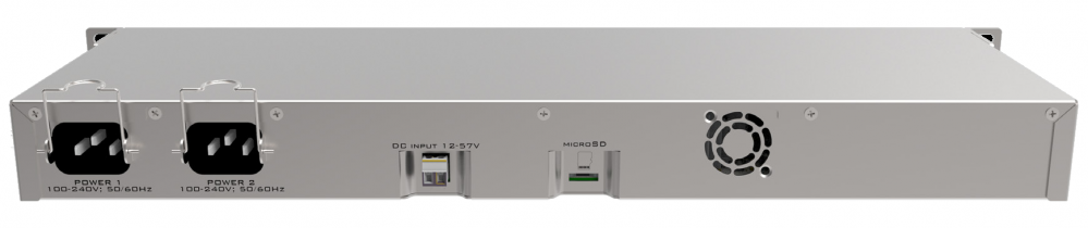 MikroTik RB1100AHx4 back side